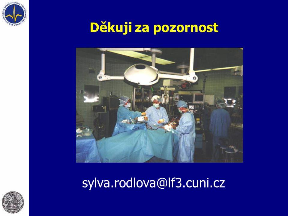 sylva.rodlova@lf3.cuni.cz Děkuji za pozornost