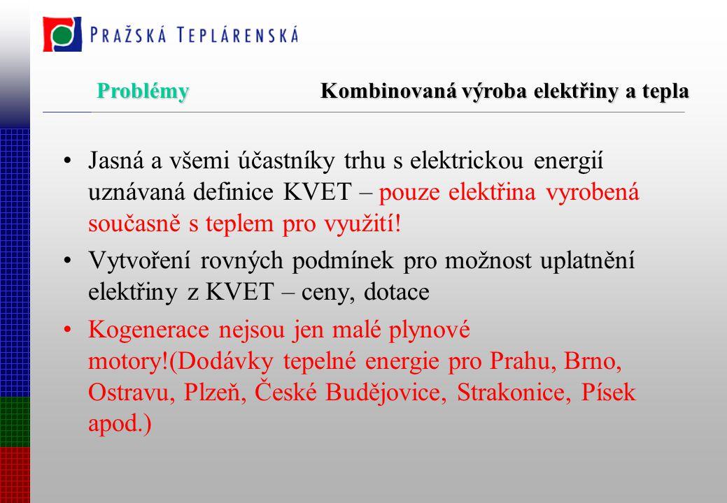 Energetická politika (usnesení vlády č.50 z 12.ledna 2000) -není špatná, chybí nástroje -Nejdříve novelizace SEK, potom zákony a nakonec vyhlášky.