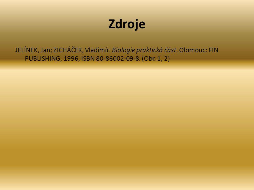 Zdroje JELÍNEK, Jan; ZICHÁČEK, Vladimír. Biologie praktická část. Olomouc: FIN PUBLISHING, 1996, ISBN 80-86002-09-8. (Obr. 1, 2)