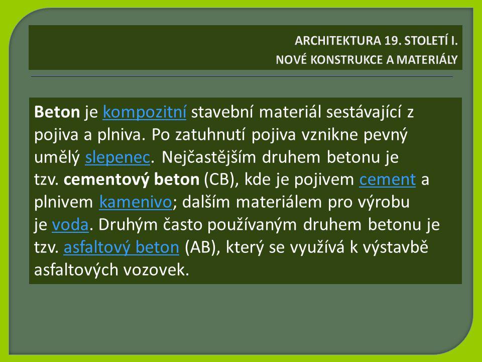 Beton je kompozitní stavební materiál sestávající z pojiva a plniva.