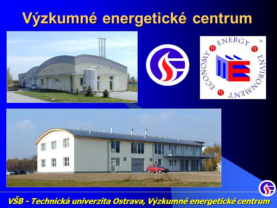 Působení VEC: Zkušebna malých zdrojů Spalování tuhých paliv (fosilních i obnovitelných druhů) Zkoumání tepelných procesů (účinnost, emise,…) Projekty v oblasti energie Chemická laboratoř Analýza složek procesních plynů (PCDD-F, Clorine,…) Zplyňování biomasy (Zplyňovač VEC) VŠB - Technická univerzita Ostrava, Výzkumné energetické centrum Výzkumné energetické centrum