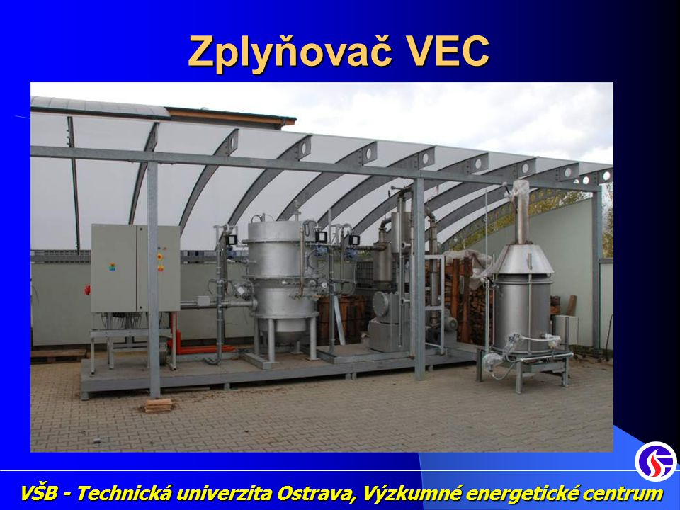 Zplyňovač VEC VŠB - Technická univerzita Ostrava, Výzkumné energetické centrum
