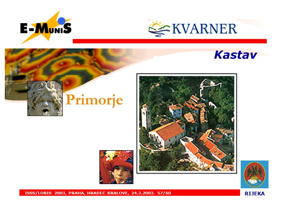 ISSS/LORIS 2003, PRAHA, HRADEC KRALOVE, 24.3.2003. 57/60 RIJEKA RIJEKA. Kastav