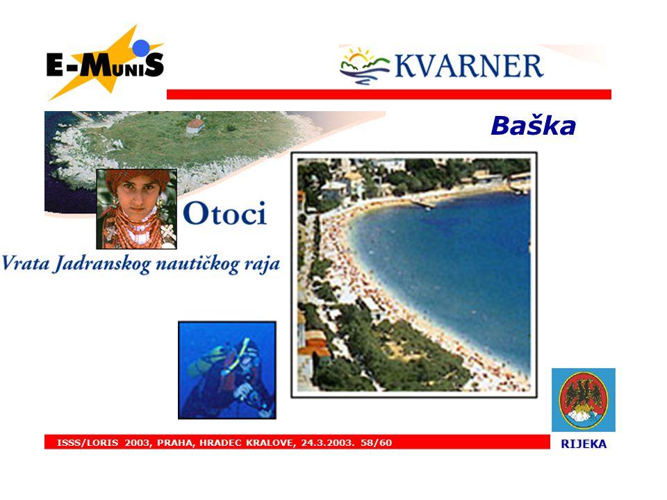 ISSS/LORIS 2003, PRAHA, HRADEC KRALOVE, 24.3.2003. 58/60 RIJEKA RIJEKA. Baška