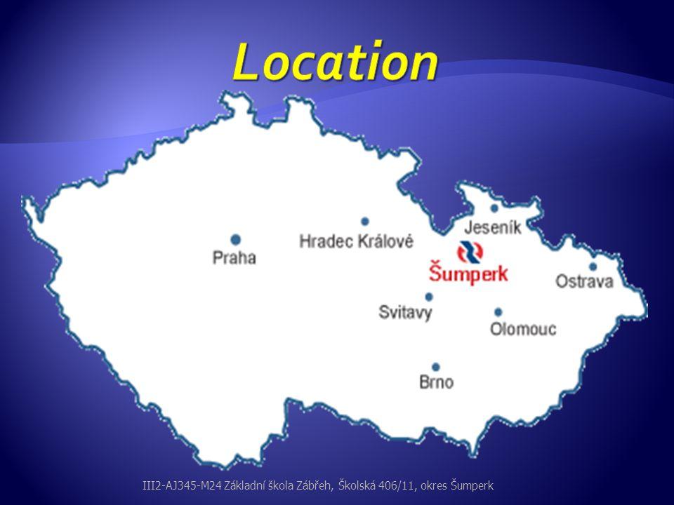  Dolní Bušínov  Hněvkov  Pivonín  Václavov Parts of the town Zábřeh III2-AJ345-M24 Základní škola Zábřeh, Školská 406/11, okres Šumperk