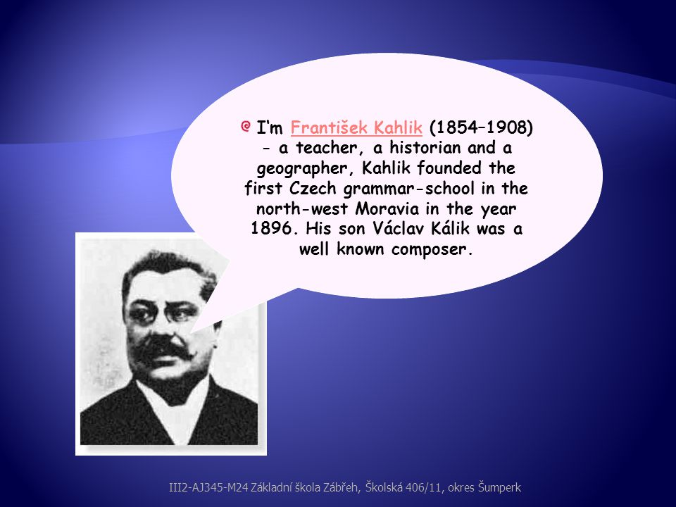My name is Josef Macek (1887–1972) - a politician and an economist.