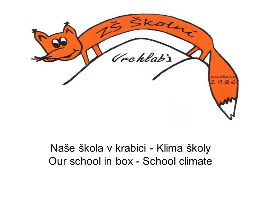 Naše škola v krabici - Klima školy Our school in box - School climate