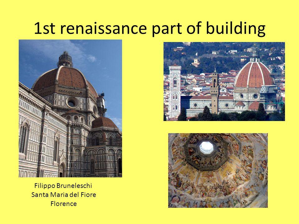 dome family Medici Florence 1st renaissance part of building Filippo Bruneleschi Santa Maria del Fiore Florence