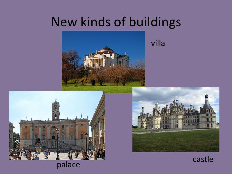 New kinds of buildings castle palace villa