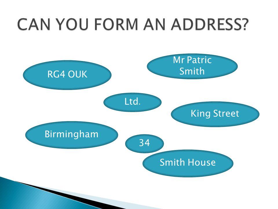 RG4 OUK Mr Patric Smith Ltd. King Street Birmingham Smith House 34