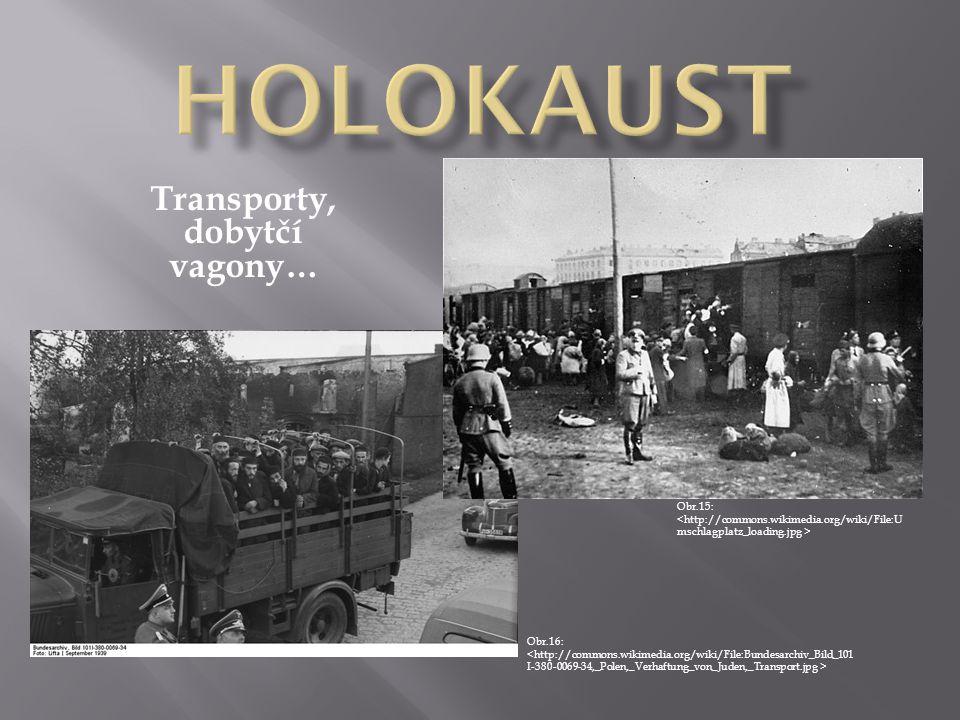 Transporty, dobytčí vagony… Obr.15: Obr.16: