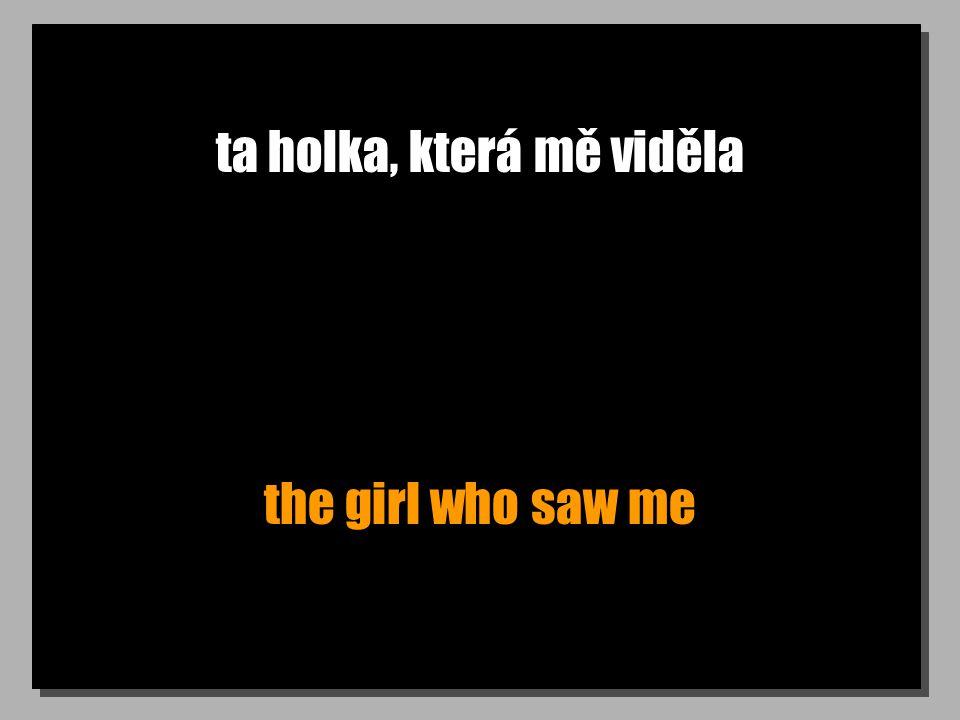 ta holka, která mě viděla the girl who saw me