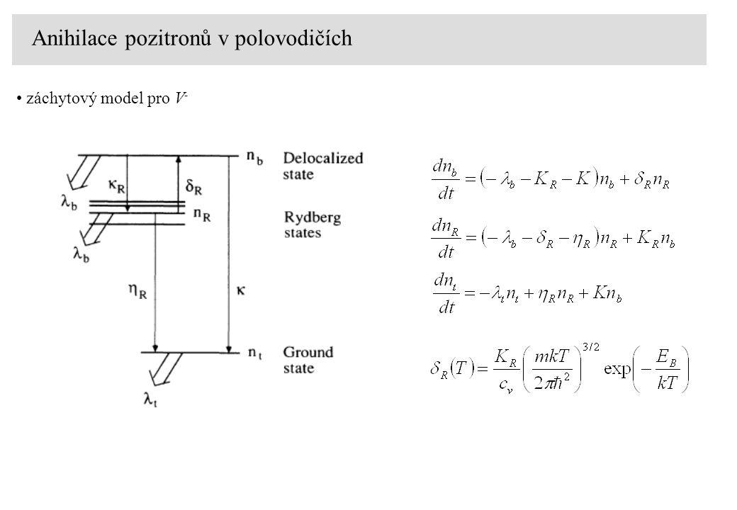 Anihilace pozitronů v polovodičích záchytový model pro V -
