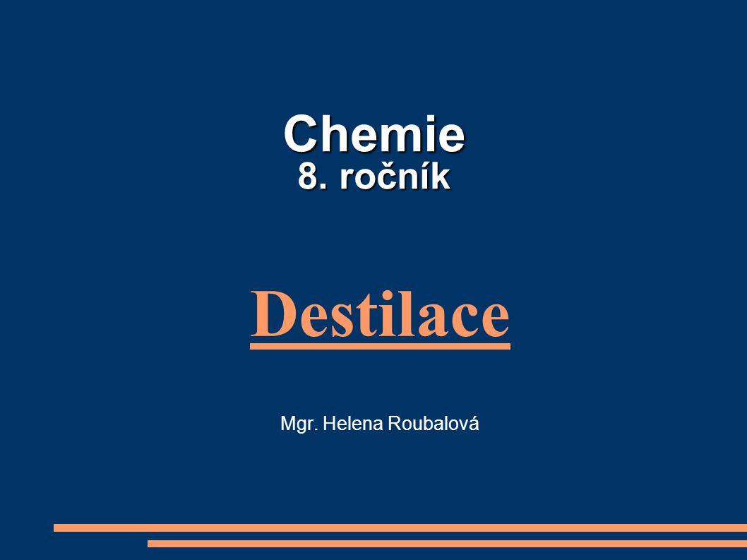 Chemie 8. ročník Destilace Mgr. Helena Roubalová