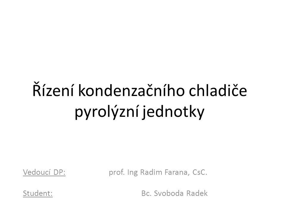 Řízení kondenzačního chladiče pyrolýzní jednotky Vedoucí DP: prof.