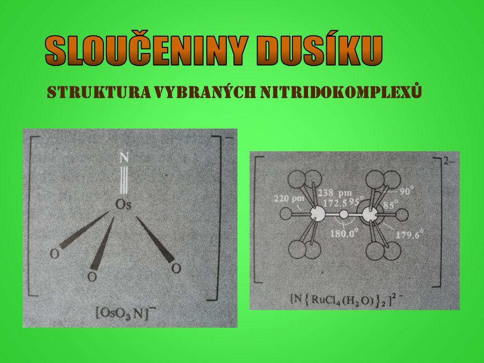 Struktura vybraných nitridokomplex Ů
