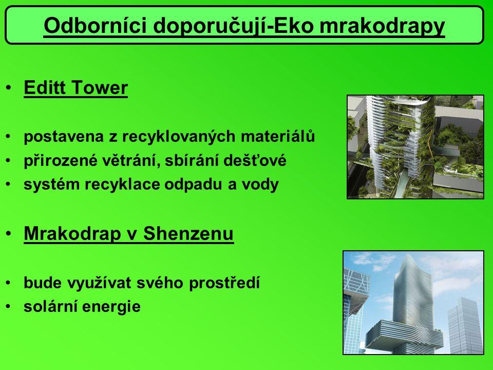 Editt Tower postavena z recyklovaných materiálů přirozené větrání, sbírání dešťové systém recyklace odpadu a vody Mrakodrap v Shenzenu bude využívat s