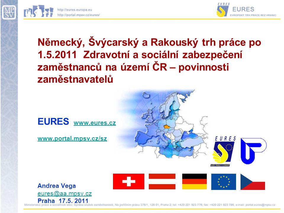 Zdravotní pojištění 2011 Zaměstnanec 4,5% Zaměstnavatel 9% www.cmu.cz,www.cmu.cz www.vzp.cz,www.vzp.cz www.ozp.cz,www.ozp.cz www.vozp.cz,www.vozp.cz www.zpmvcr.cz atd.www.zpmvcr.cz EHIC – European Health Insurance Card
