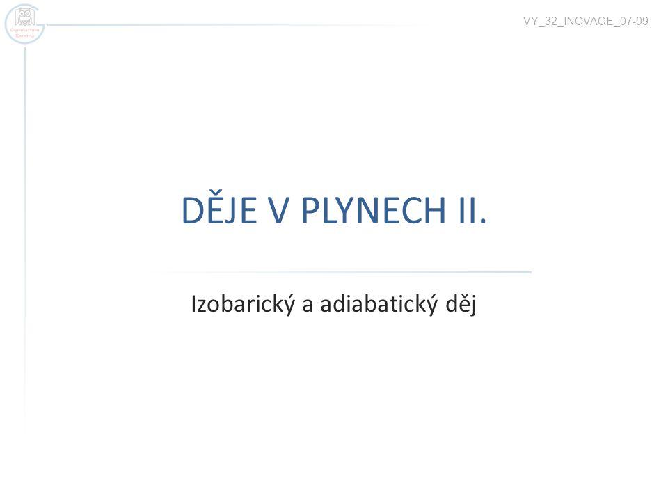 DĚJE V PLYNECH II. Izobarický a adiabatický děj VY_32_INOVACE_07-09