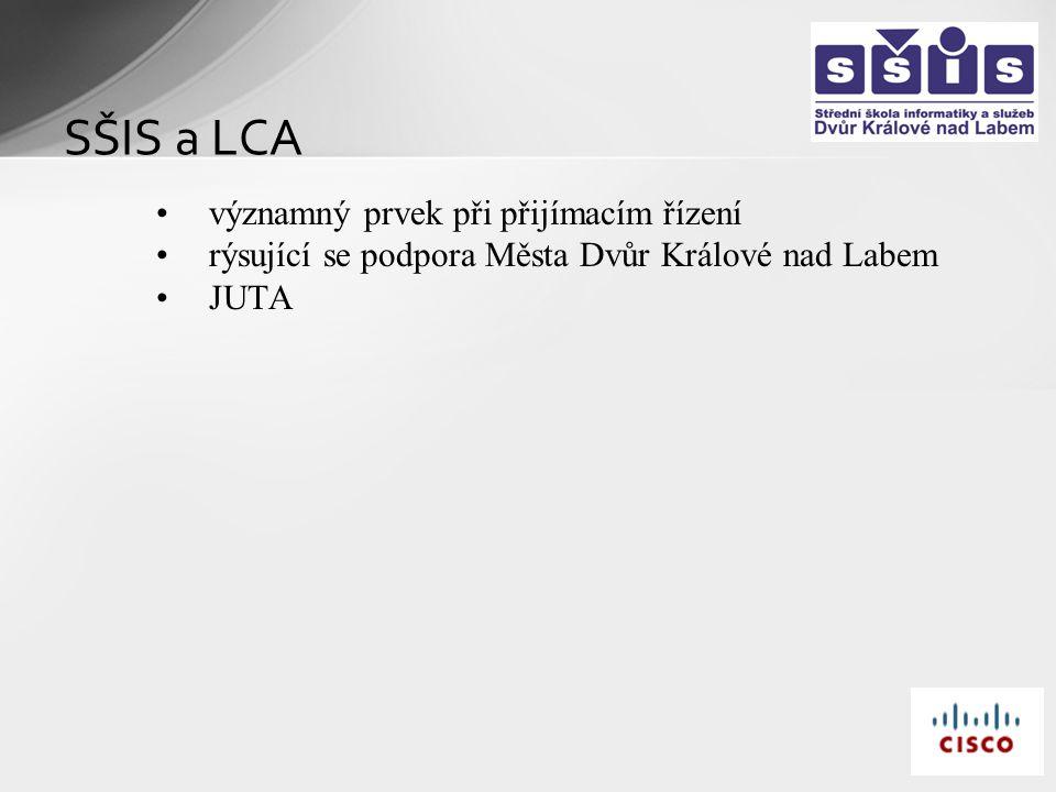 SŠIS a LCA významný prvek při přijímacím řízení rýsující se podpora Města Dvůr Králové nad Labem JUTA