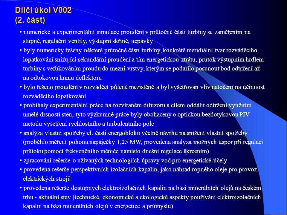 Dílčí úkol V002 (2.