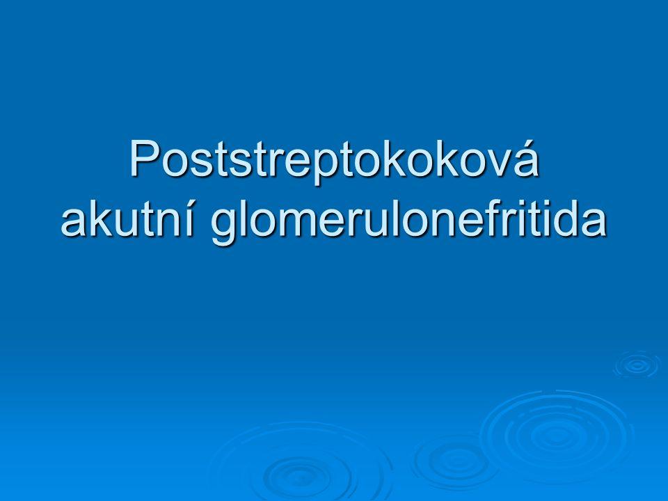 Poststreptokoková akutní glomerulonefritida