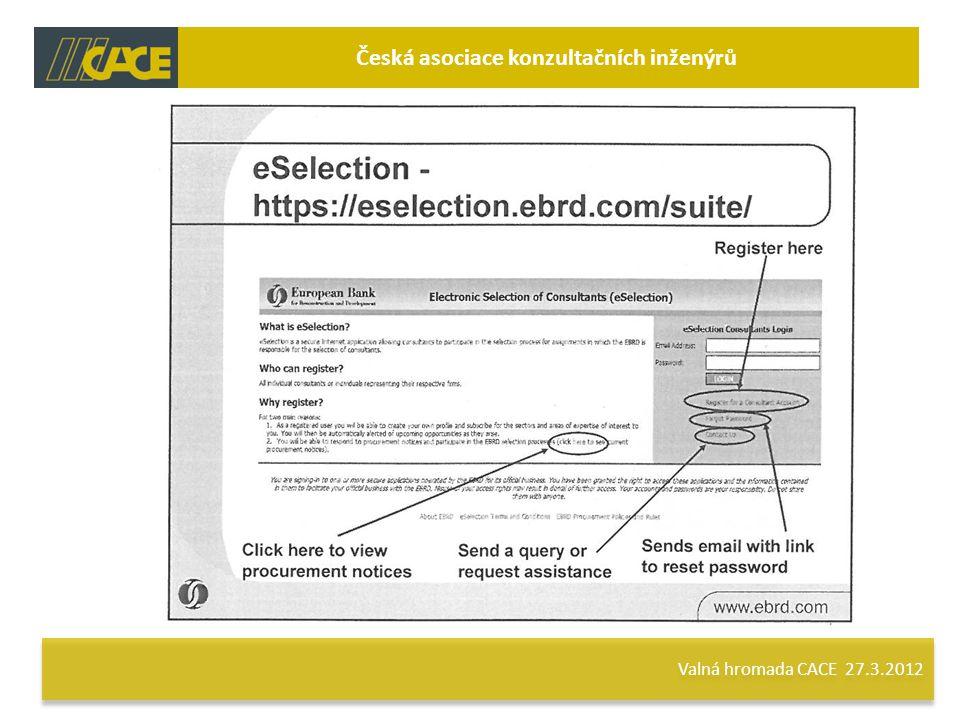 Valná hromada CACE 27.3.2012 Česká asociace konzultačních inženýrů