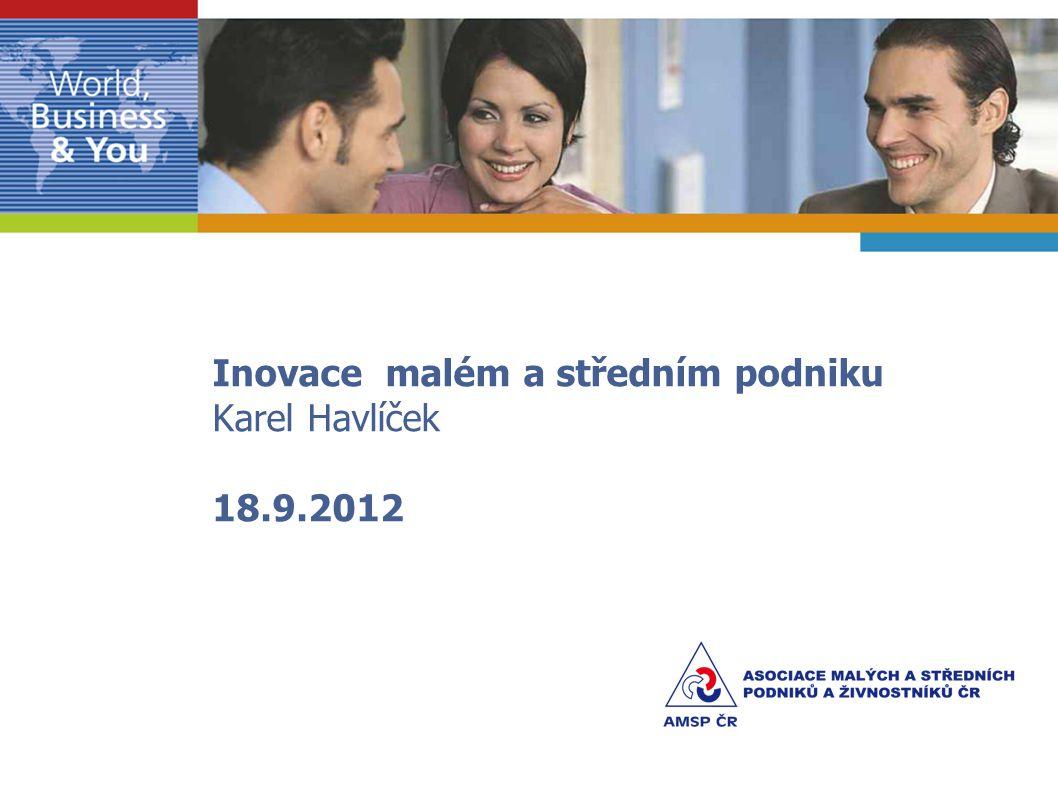 Inovace malém a středním podniku Karel Havlíček 18.9.2012