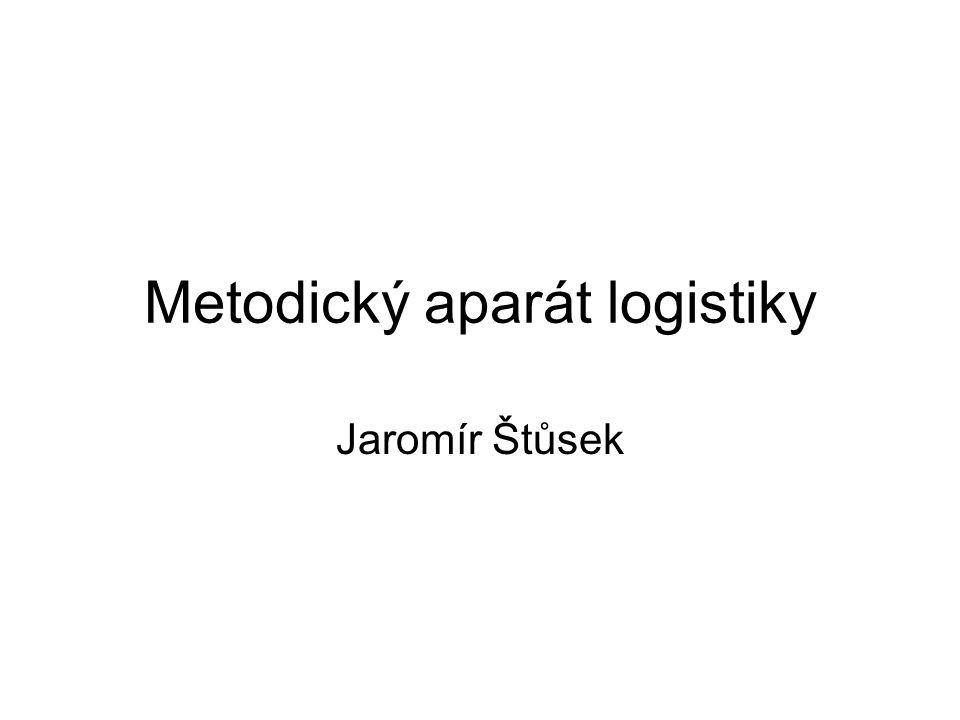 Metodický aparát logistiky Jaromír Štůsek