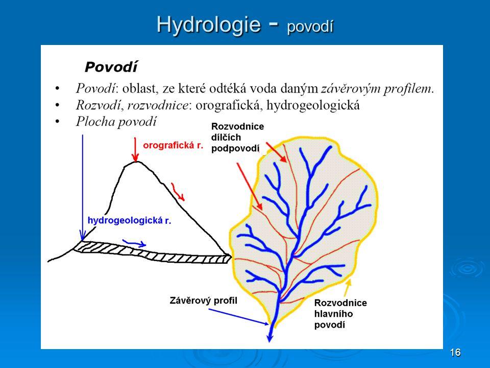 16 Hydrologie - povodí