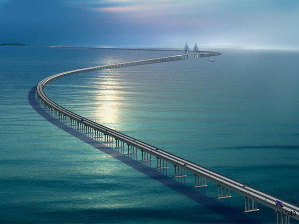 杭州湾大桥位置图 12/43 杭州湾大桥位置图