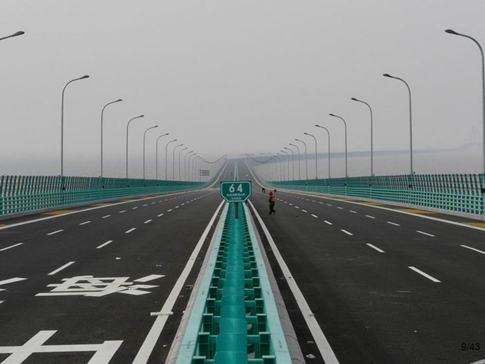 9/43 The $140 billion 6-lane highway has 2 extra safety lanes.