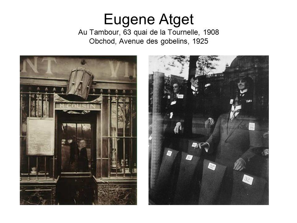 Eugene Atget Au Tambour, 63 quai de la Tournelle, 1908 Obchod, Avenue des gobelins, 1925