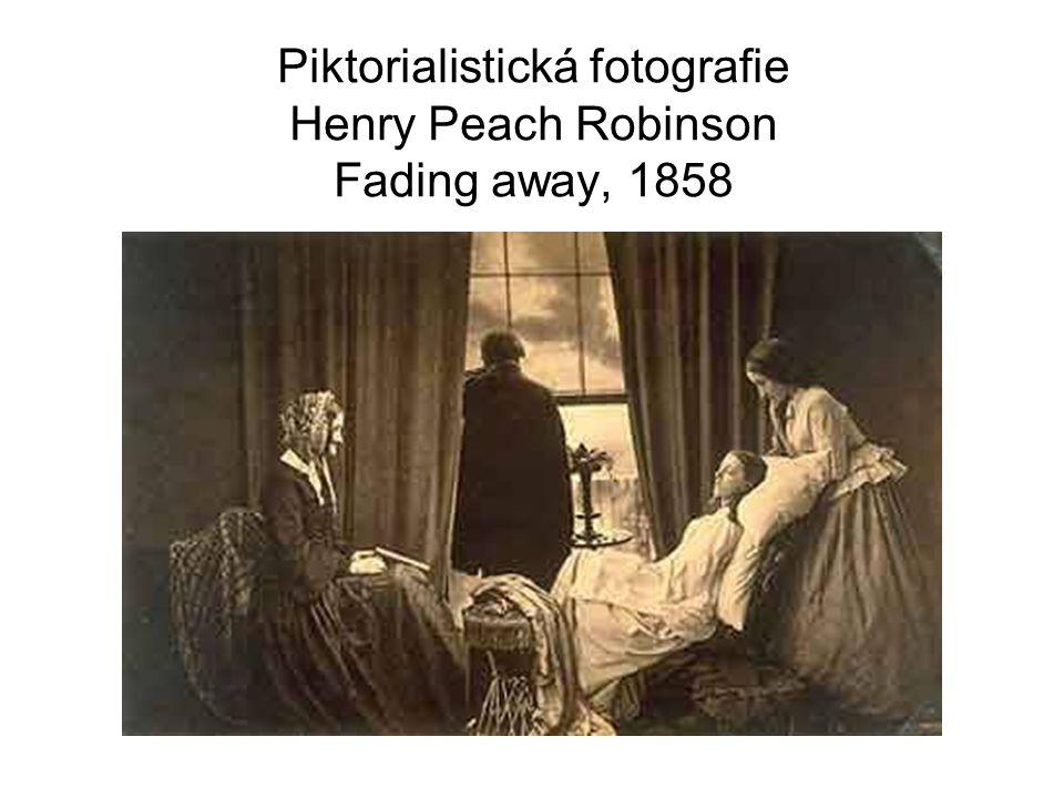 Piktorialistická fotografie Henry Peach Robinson Fading away, 1858