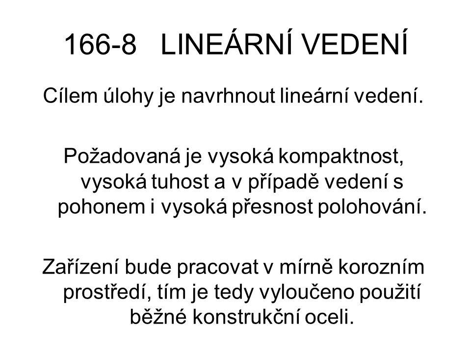 166-8 LINEÁRNÍ VEDENÍ Cílem úlohy je navrhnout lineární vedení.