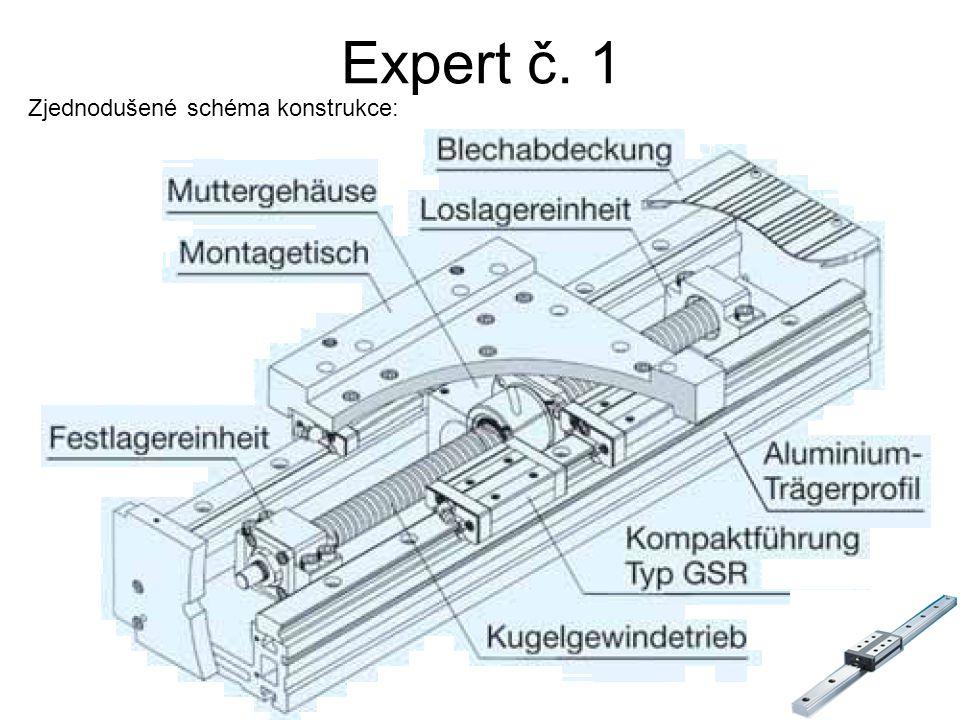 Expert č. 1 Zjednodušené schéma konstrukce: