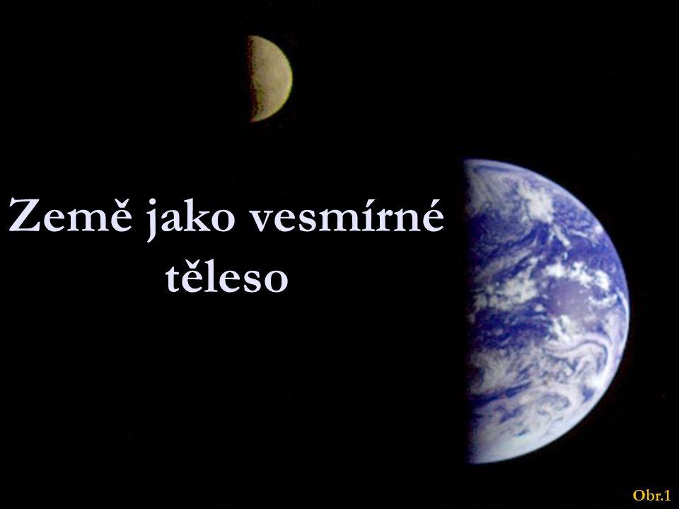 Země jako vesmírné těleso Obr.1