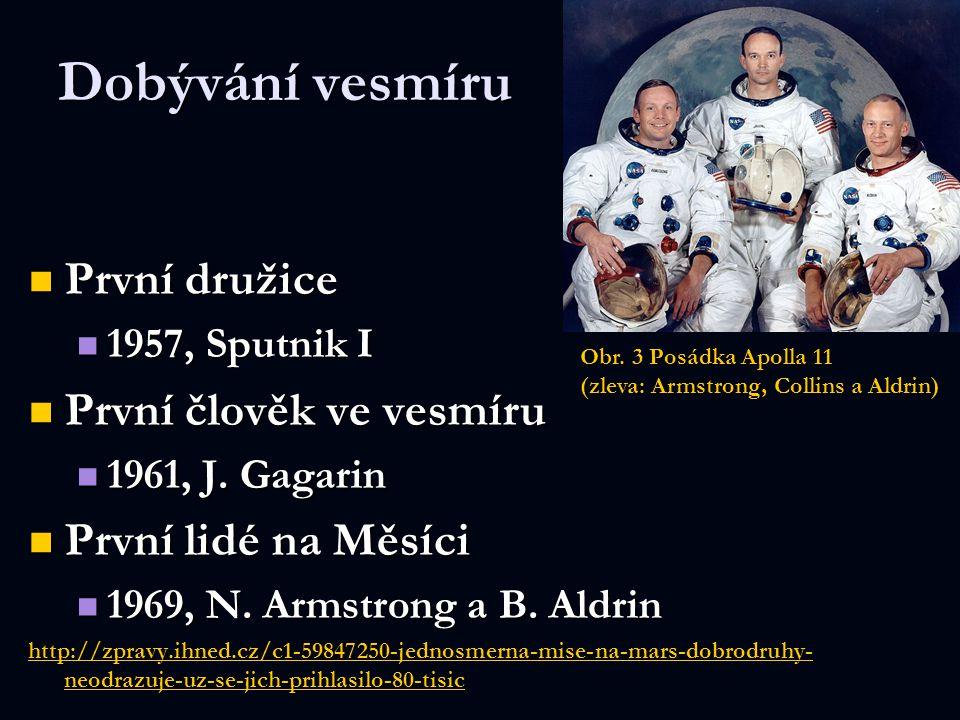 Dobývání vesmíru První družice První družice 1957, Sputnik I 1957, Sputnik I První člověk ve vesmíru První člověk ve vesmíru 1961, J. Gagarin 1961, J.