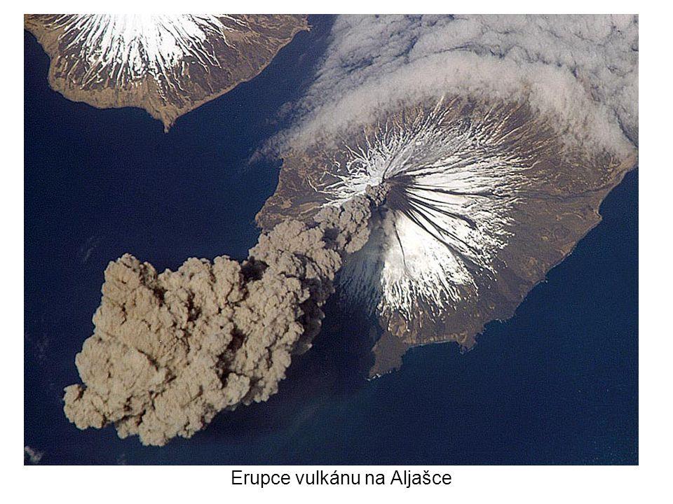 Erupce vulkánu na Aljašce