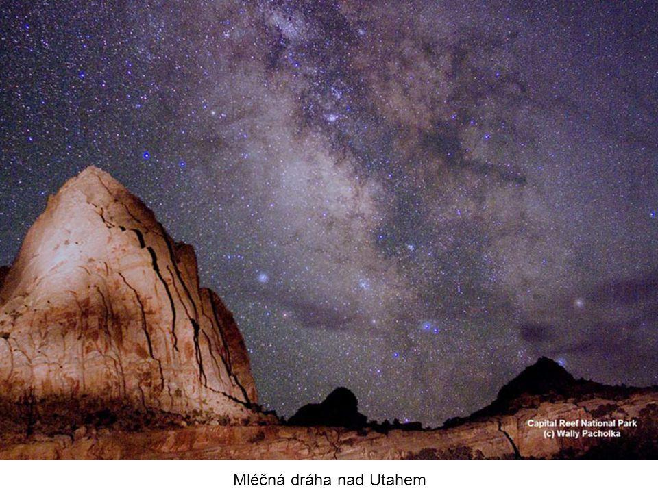 Mléčná dráha nad Utahem