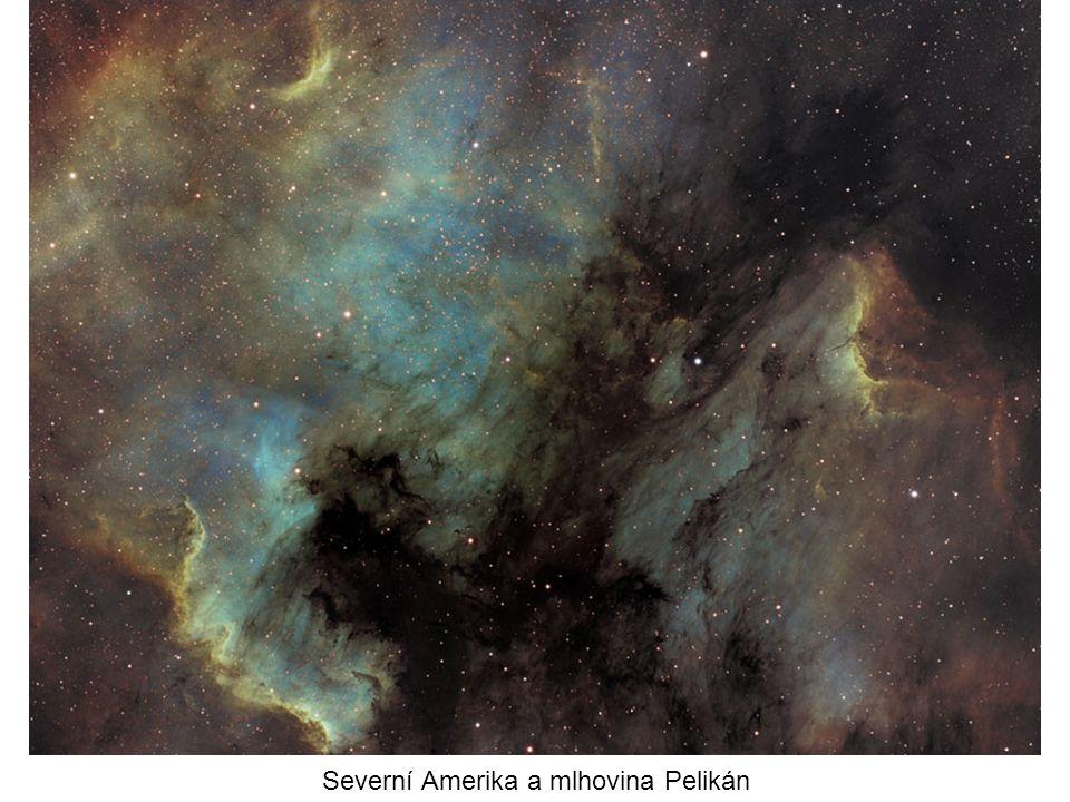 Severní Amerika a mlhovina Pelikán