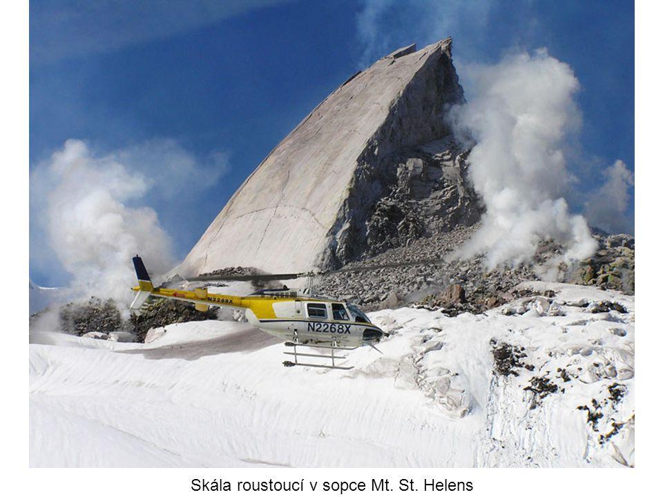 Skála roustoucí v sopce Mt. St. Helens