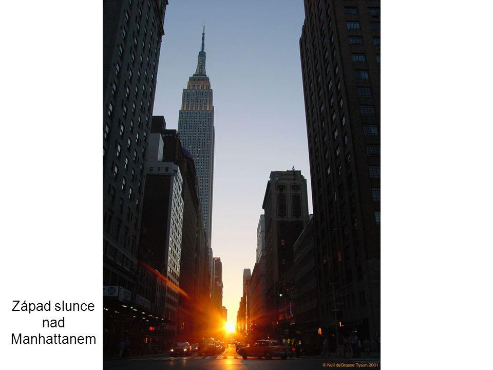 Západ slunce nad Manhattanem