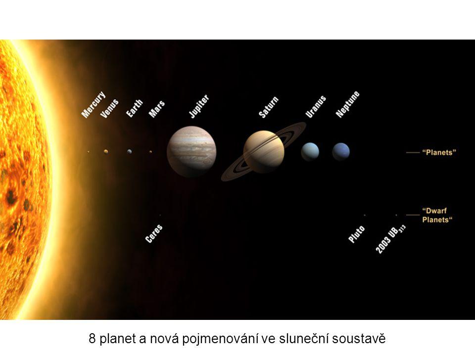 8 planet a nová pojmenování ve sluneční soustavě