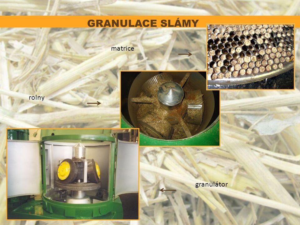 GRANULACE SLÁMY matrice rolny granulátor