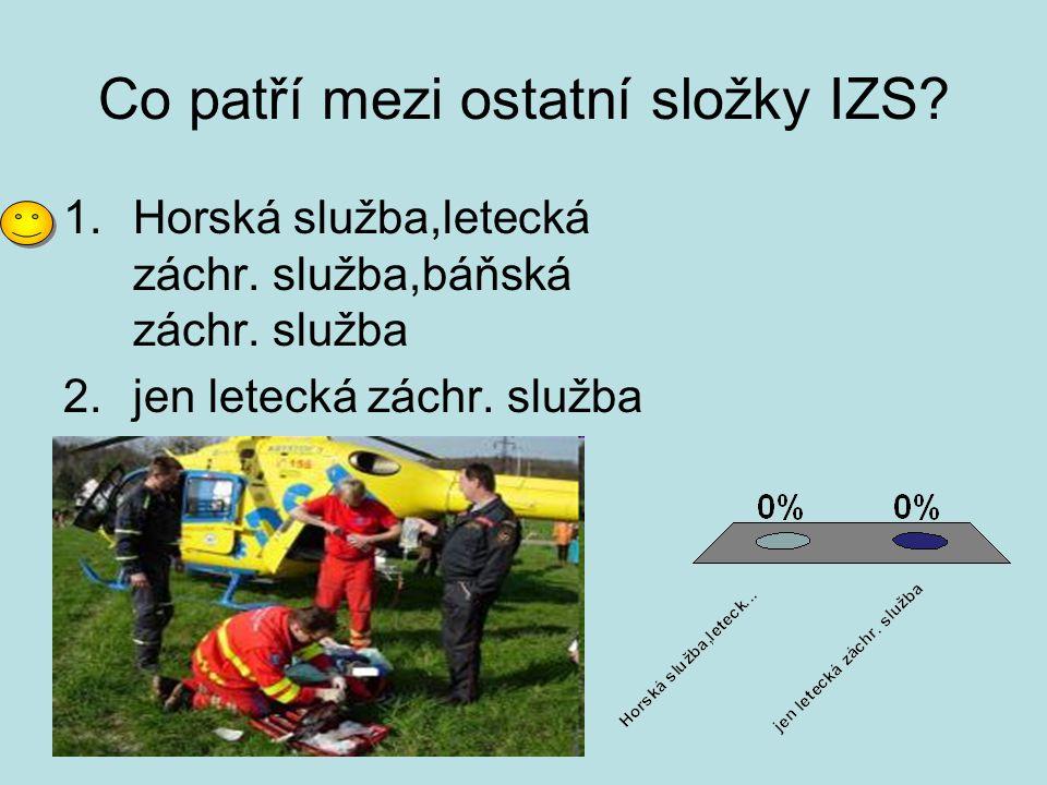 Jaké organizace pomáhají při mimořádných událostech.