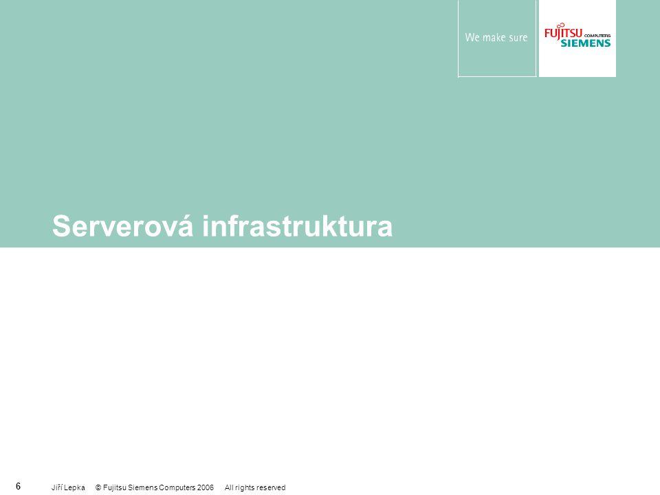 Jiří Lepka © Fujitsu Siemens Computers 2006 All rights reserved 7 Co potřebují uživatelé serverových řešení Škálovatelnost Spolehlivost a dostupnost Správa a management Interoperabilita Kvalitní záruku a služby Financování