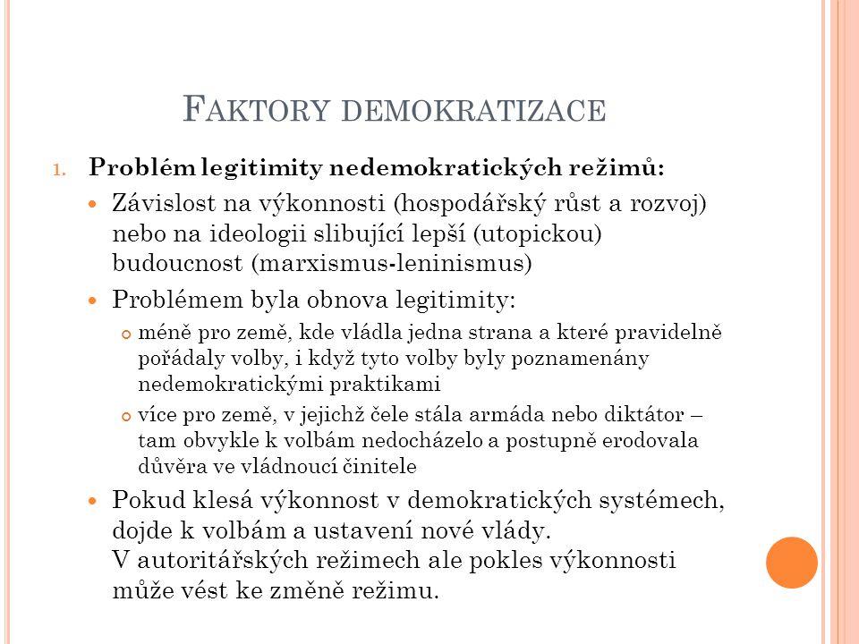 F AKTORY DEMOKRATIZACE 1.