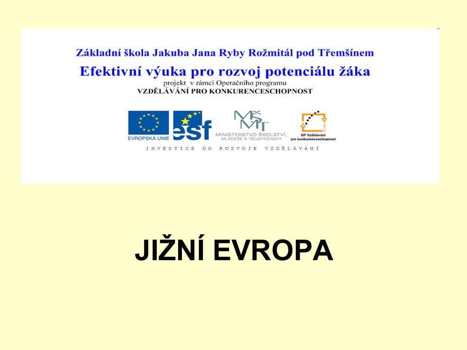 Téma: Jižní Evropa – 8.ročník - zeměpis Použitý software: držitel licence - ZŠ J.