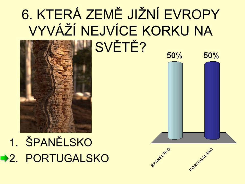 7. KTERÁ ZEMĚ JIŽNÍ EVROPY VYVÁŽÍ NEJVÍCE OLIV NA SVĚTĚ? 1.PORTUGALSKO 2.ŠPANĚLSKO